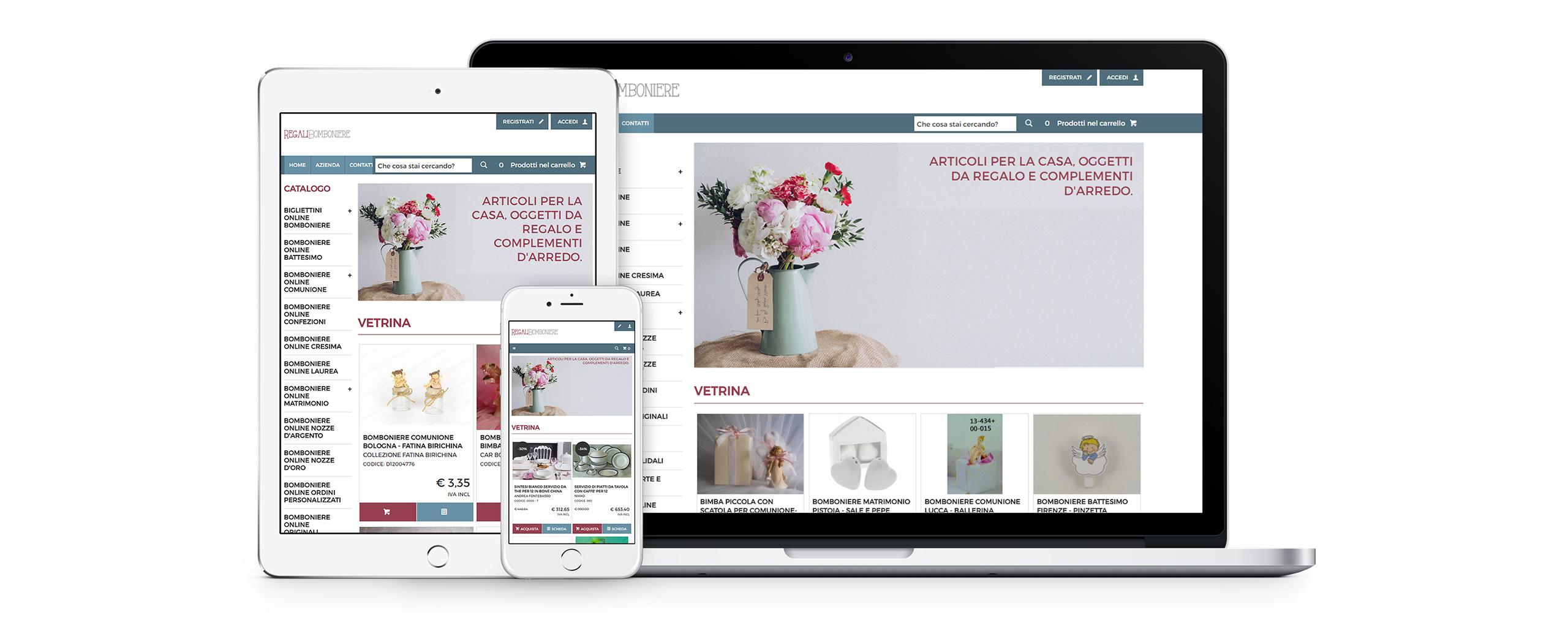 Realizzazione sito e commerce per la vendita di articoli for Vendita online oggettistica casa